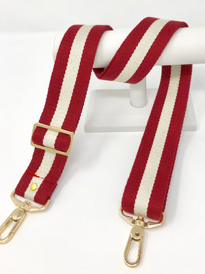 Red and Cream Stripe Strap