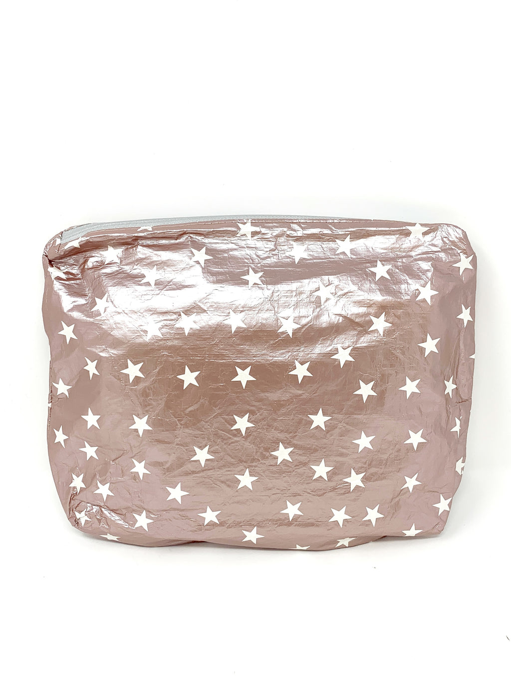 Hi Love Travel Rose Gold Medium Pouch with Silver Stars