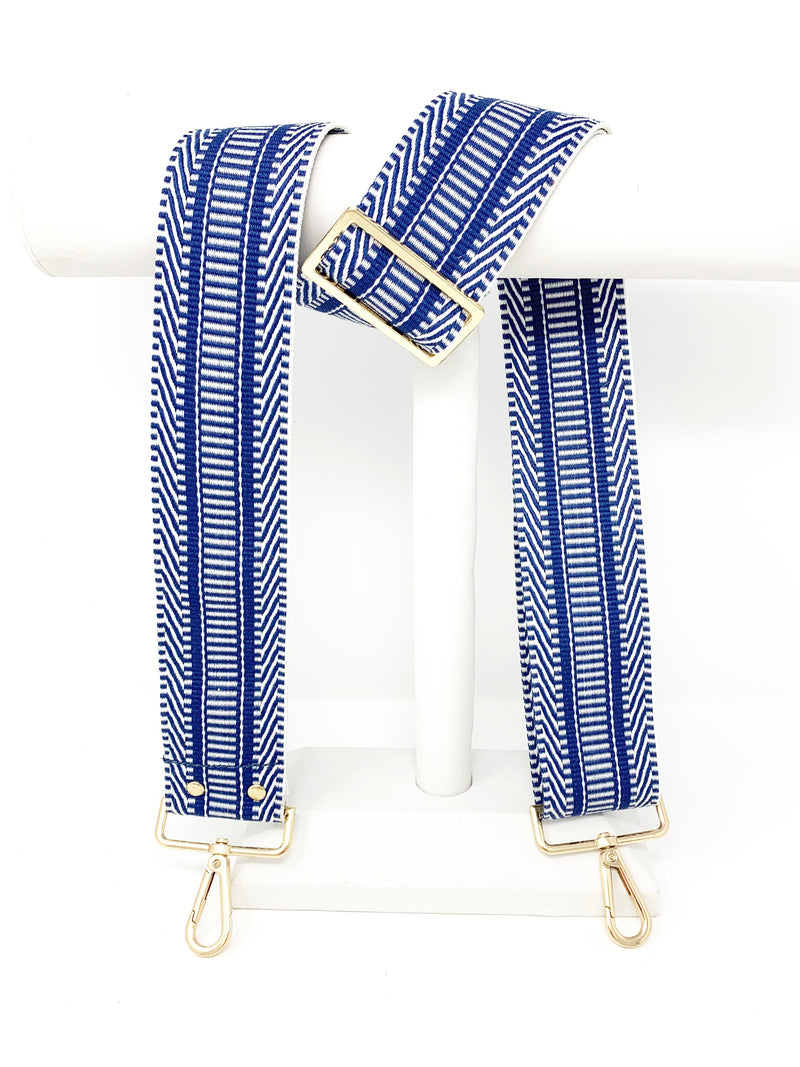 Patterned Strap in Cobalt