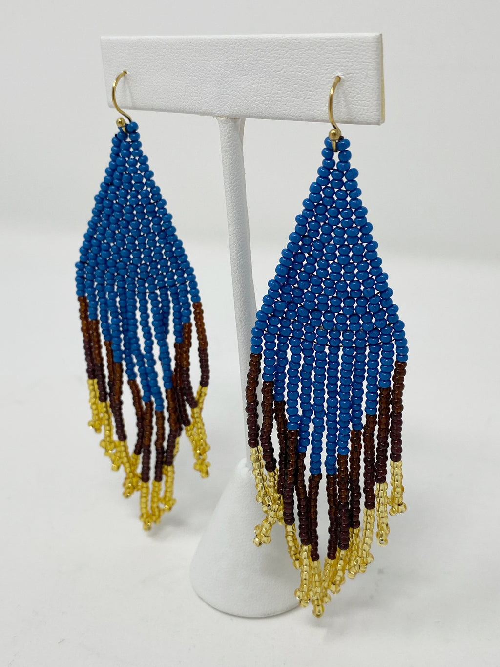 Peacock Beaded Earrings