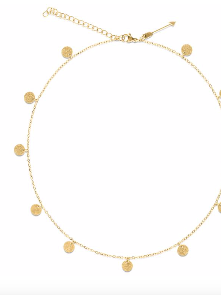 Sasha Mini Sparkle Disc Necklace