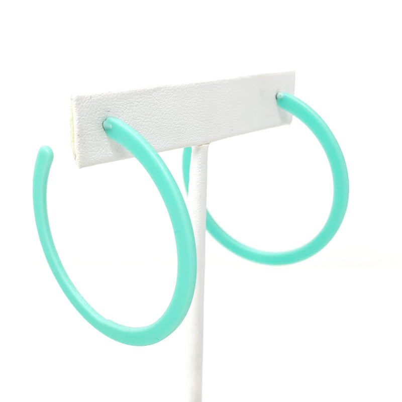 SALE! Matte Flat Hoops in Seafoam