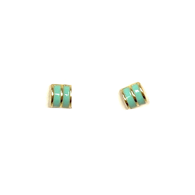 Summer Studs in Seafoam