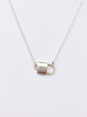 The Lock of Love Necklace in Silver
