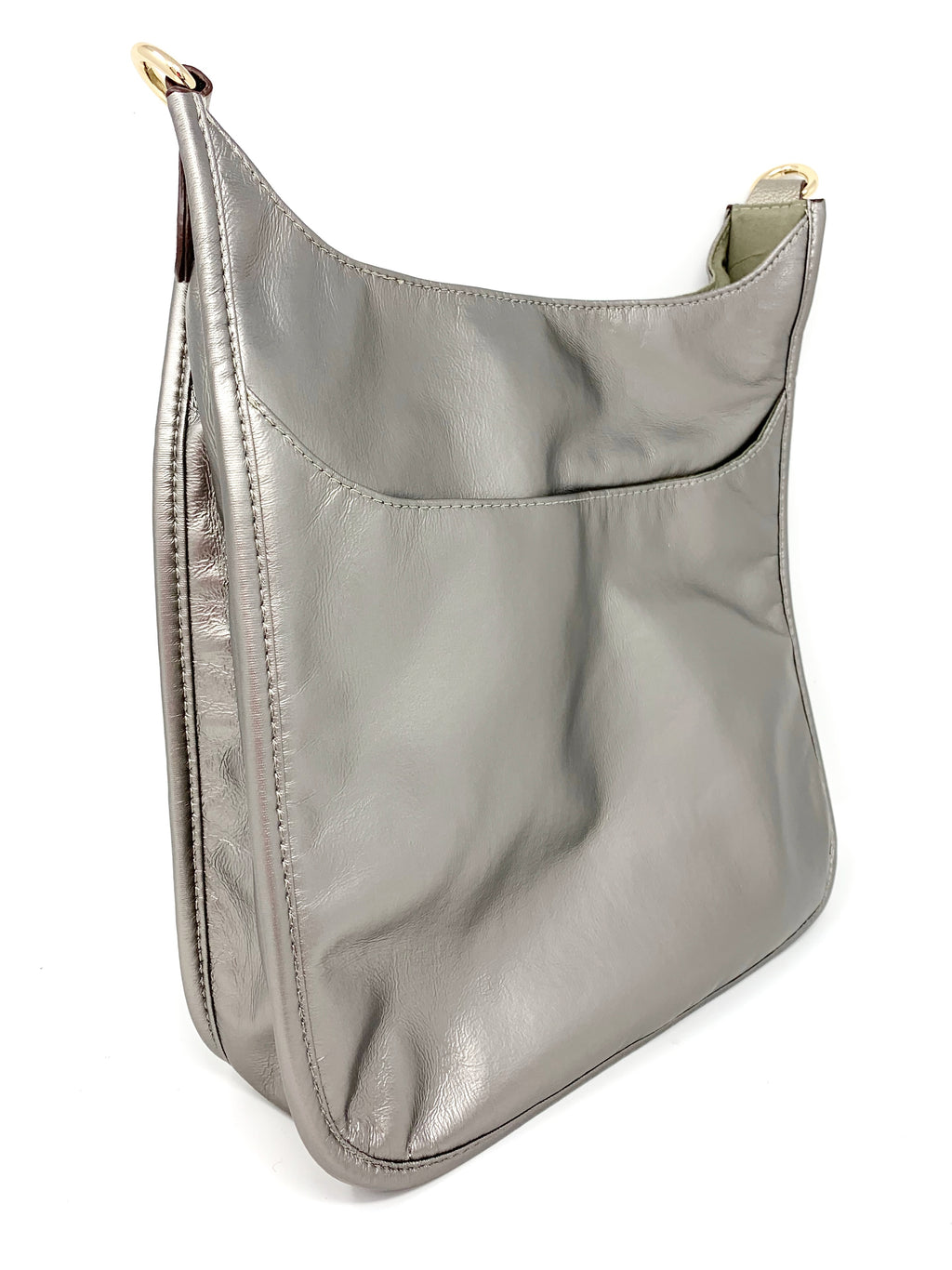 Back in the Saddle Bag in Silver Coated Nylon
