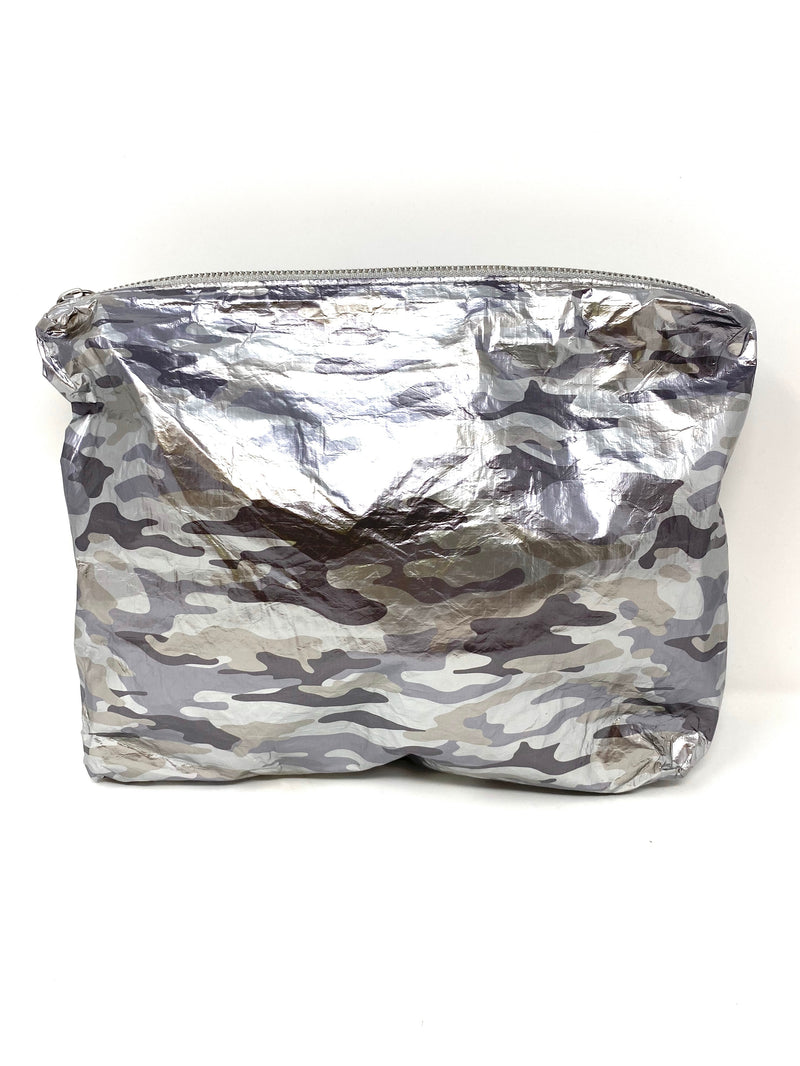 Hi Love Travel Medium Pouch in Metallic Camo