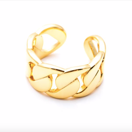 Simone Adjustable Ring in Gold