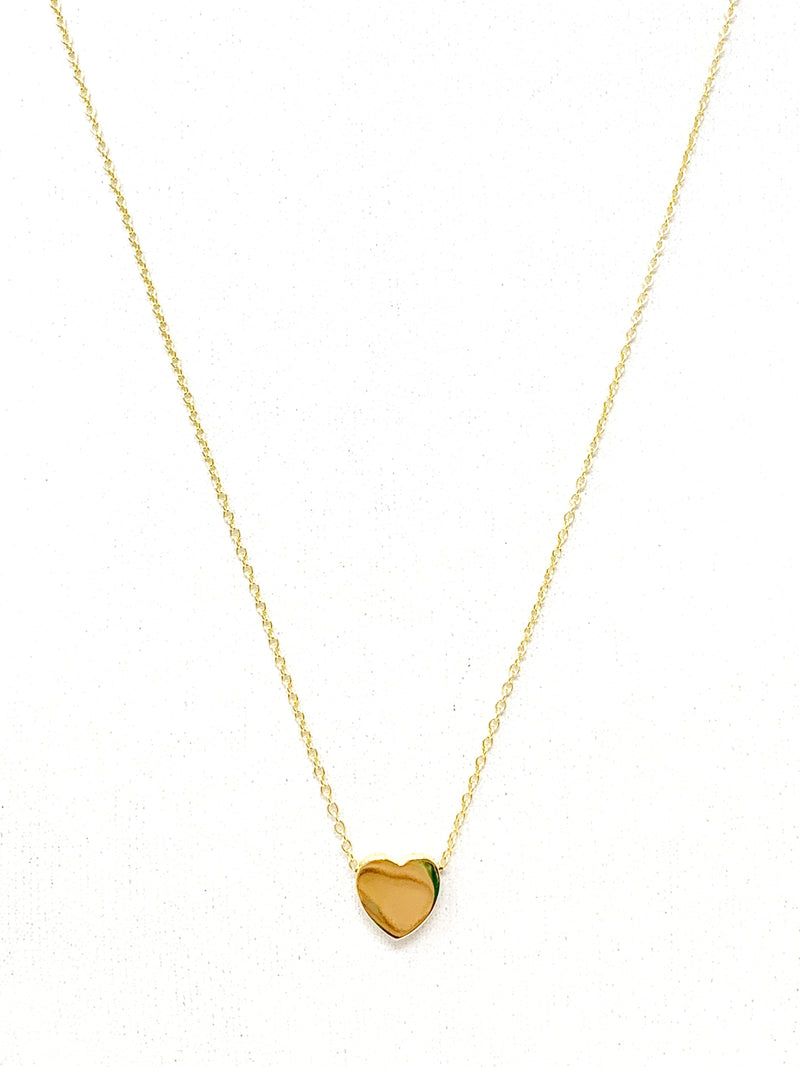 Simple Heart Necklace in Gold