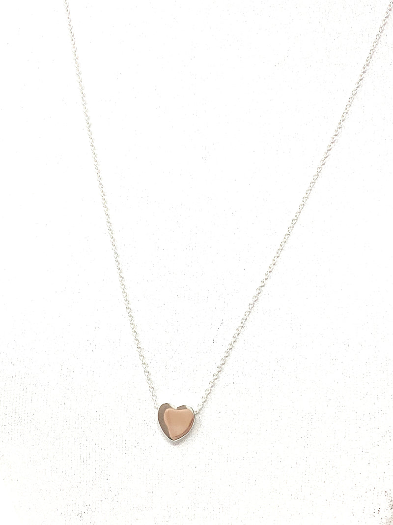 Simple Heart Necklace in Silver