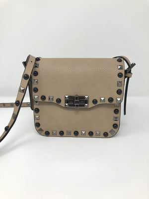 Small Studded Crossbody in Taupe