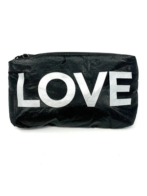 Hi Love Travel Small LOVE Pouch in Black