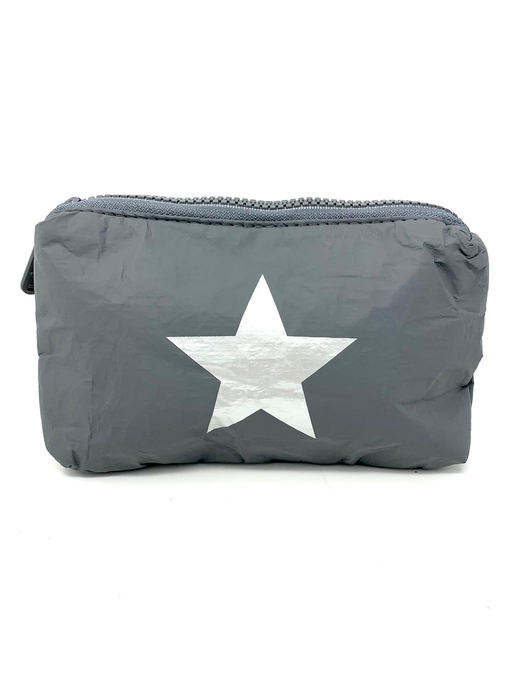 Hi Love Travel Grey Small Pouch with Silver Star