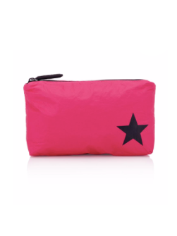 Hi Love Travel Small Hot Pink Pouch with Black Star