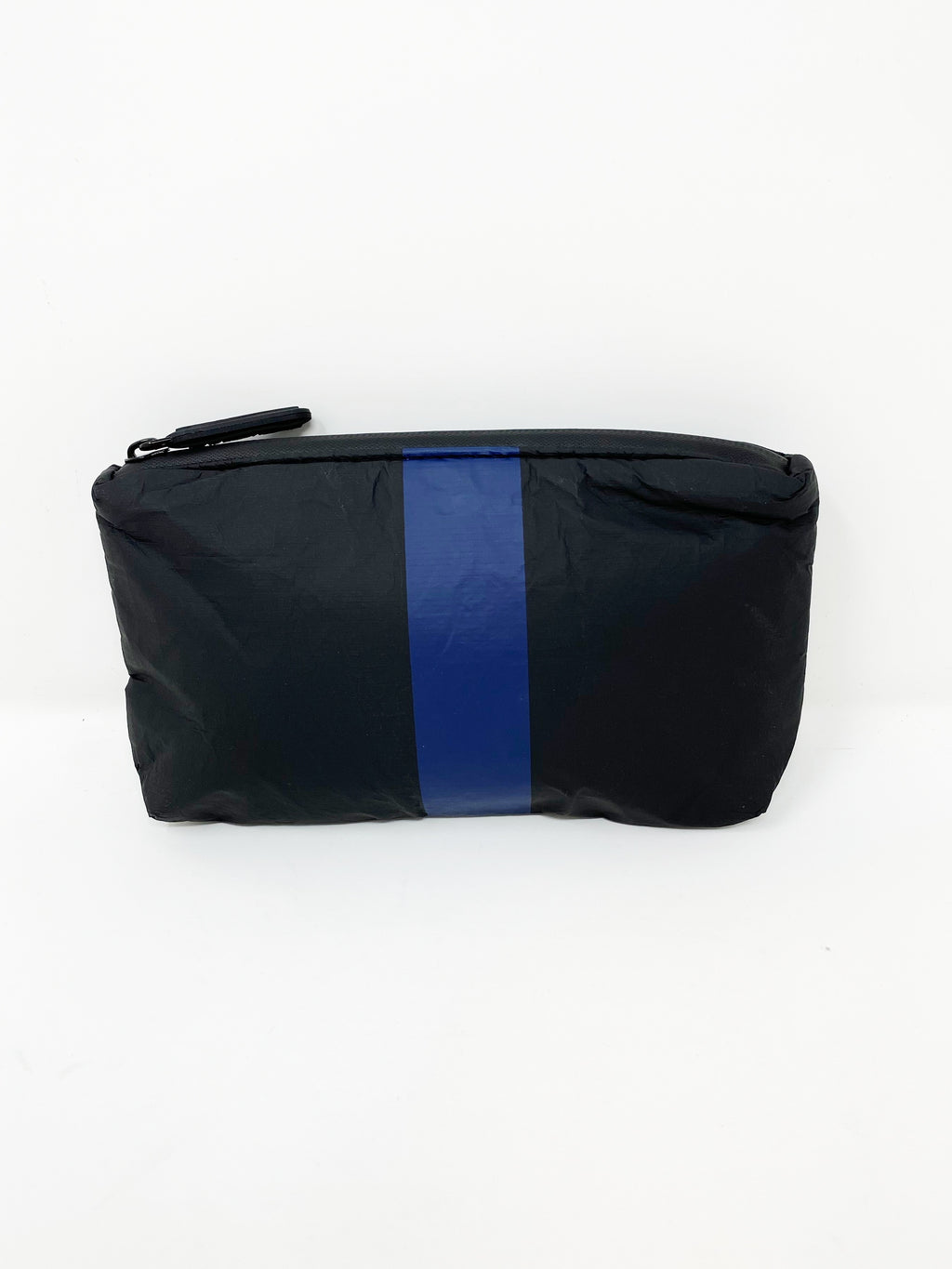 Hi Love Travel Black Small Pouch with Navy Stripe