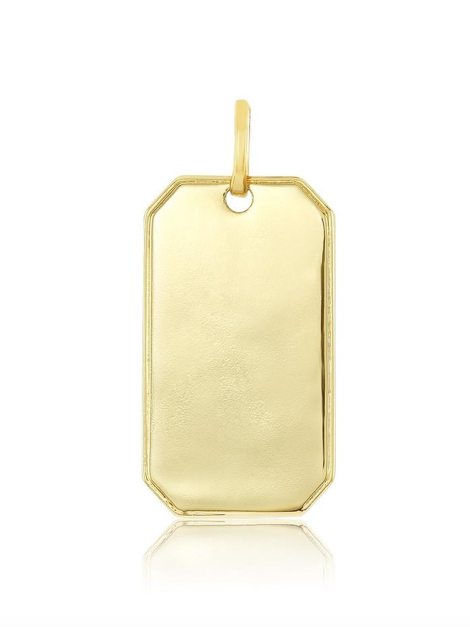 Charming Tag Charm in Gold