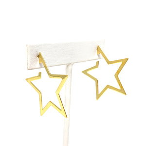 You're a Star Hoops in Gold
