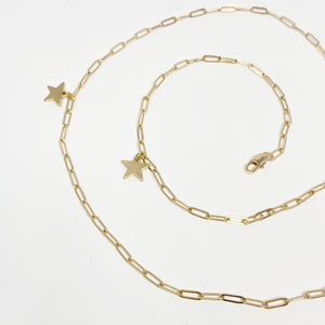 Gold Chainlink with Stars Mask Chain