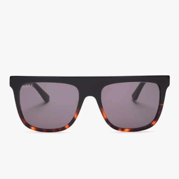 Stevie Black Tortoise Gradient with Grey Lens