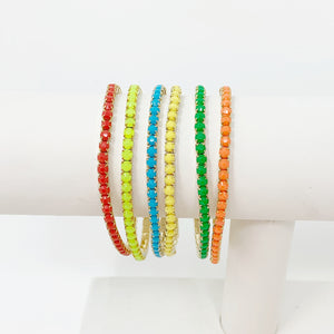 Rainbow Faceted Stackers
