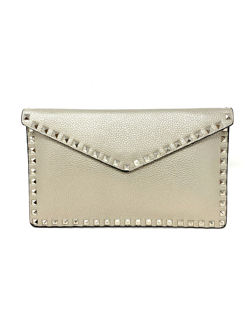 Studded Envelope Clutch in Silver