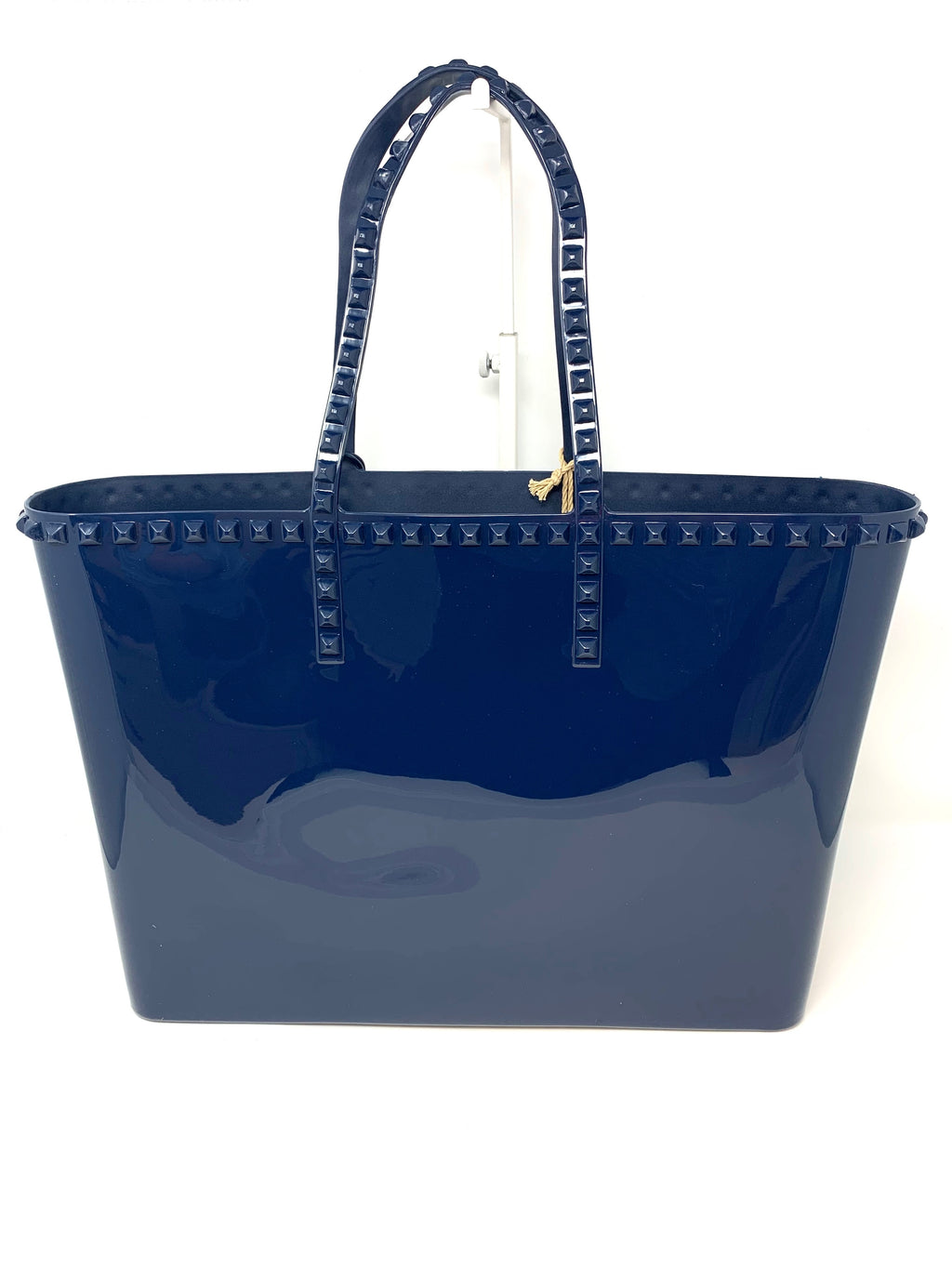 Studded Jelly Large Tote in Navy