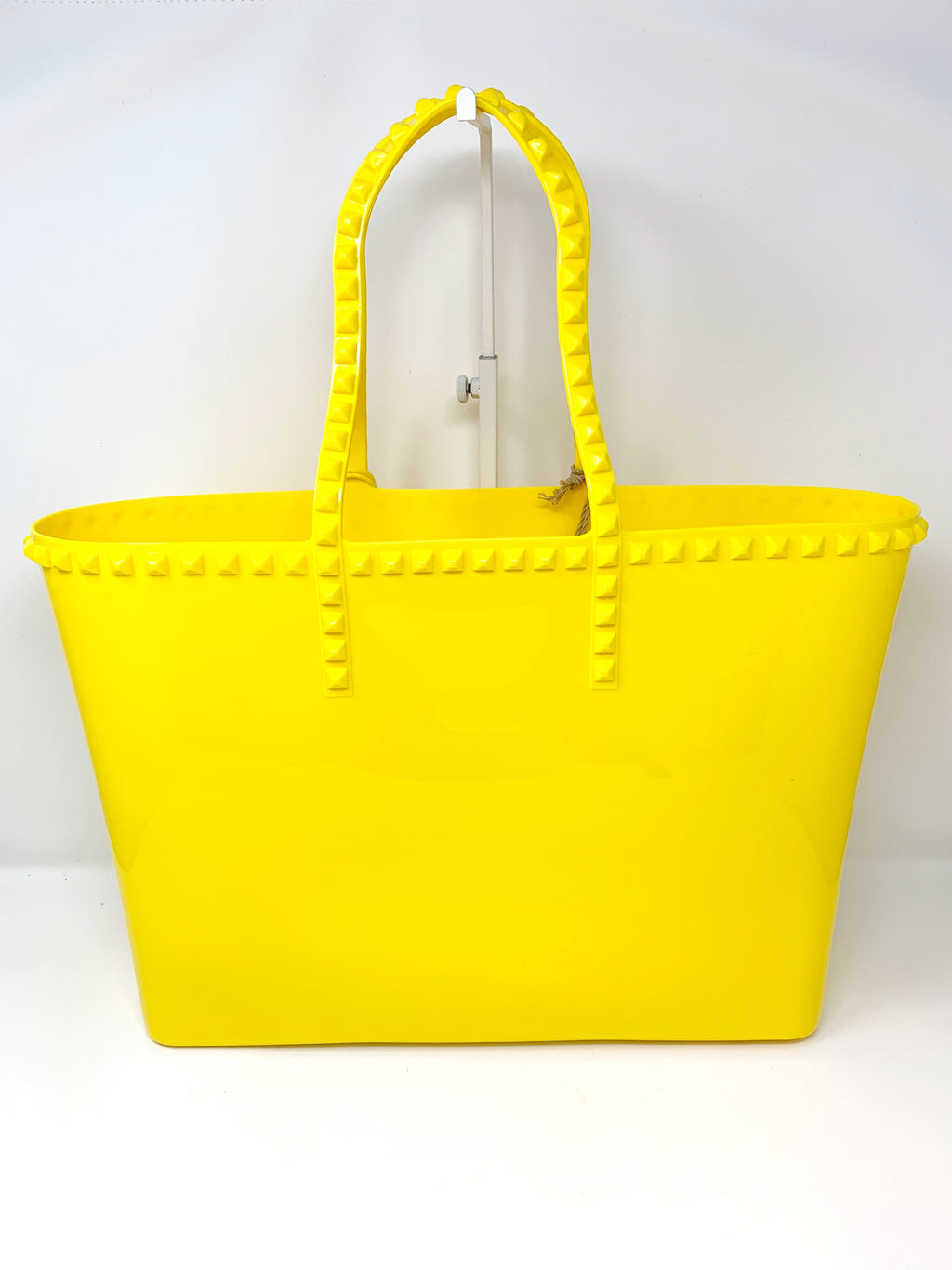 Studded Jelly Large Tote in Yellow