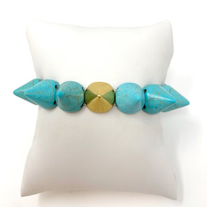 Spike Beaded Bracelet in Turquoise