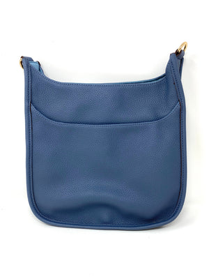 Saddle Bag in Vegan Leather in Denim Blue