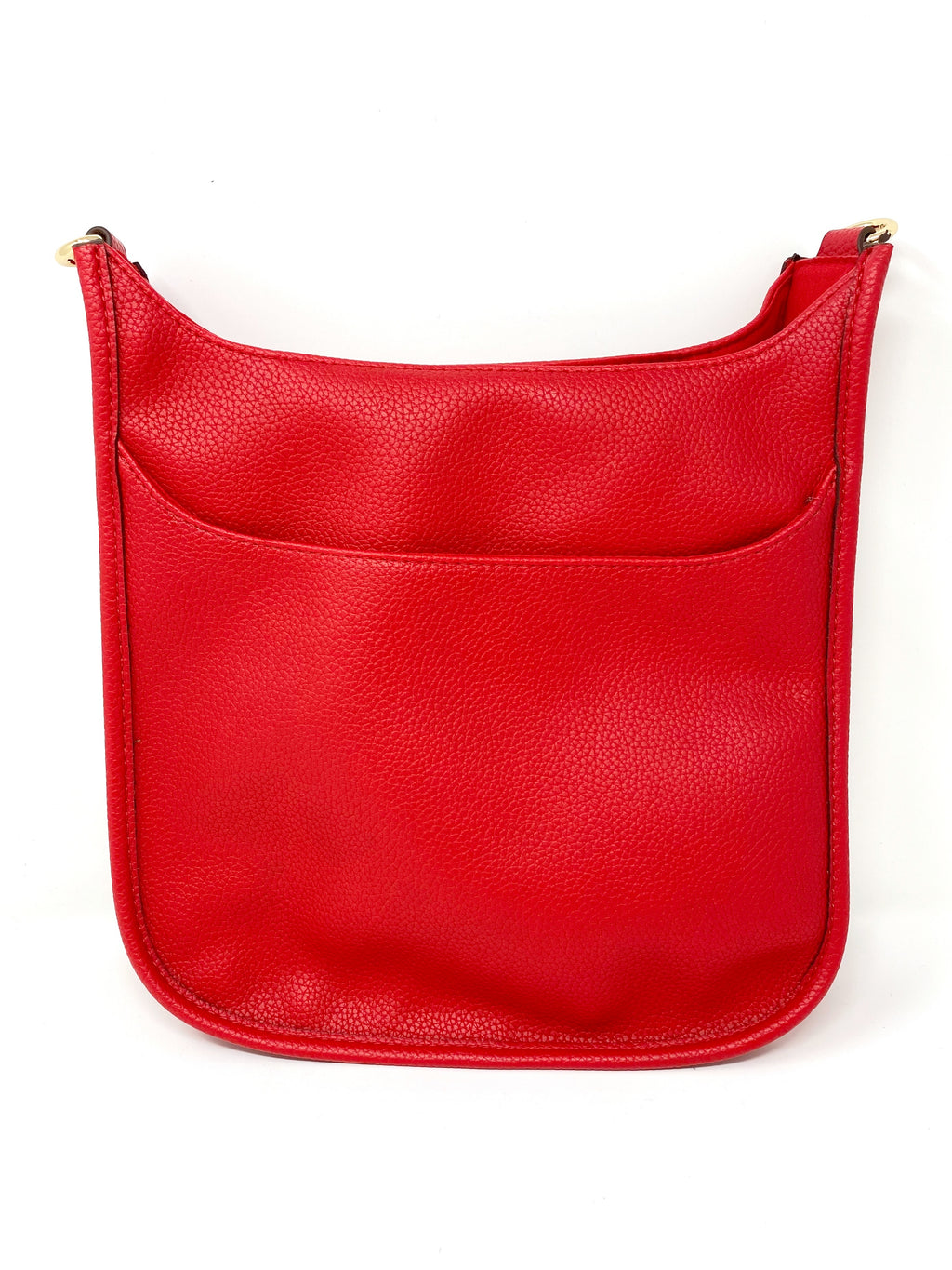 Saddle Bag in Vegan Leather in Very Red