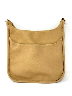 Saddle Bag in Vegan Leather in Tan
