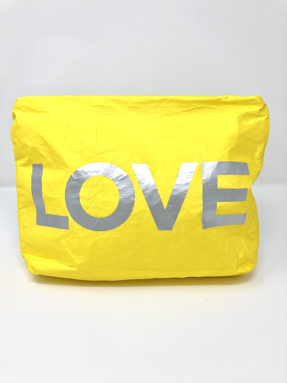 Hi Love Travel Yellow LOVE Medium Pouch