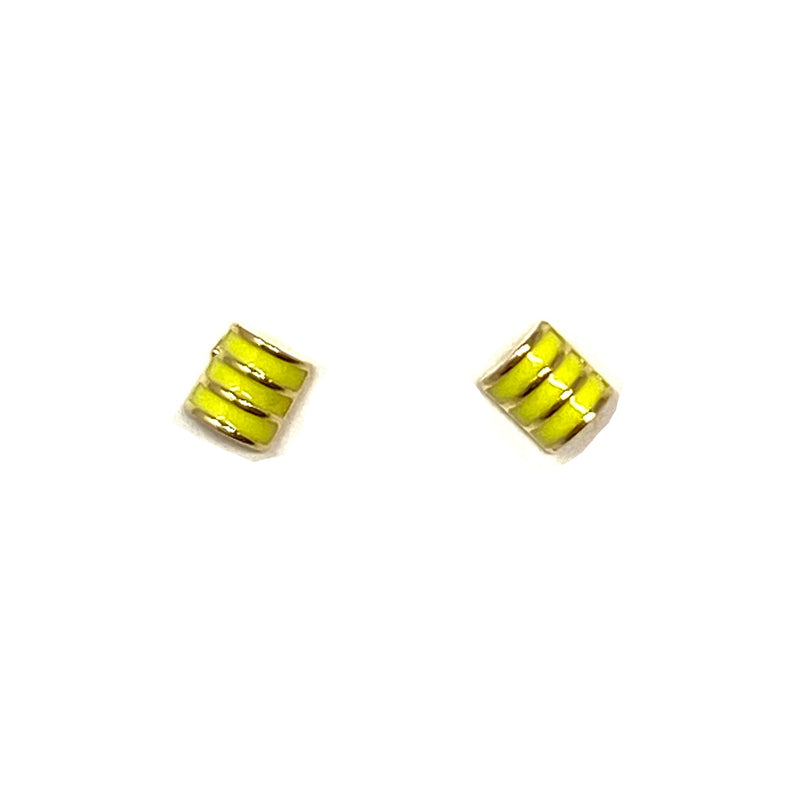 Summer Studs in Yellow