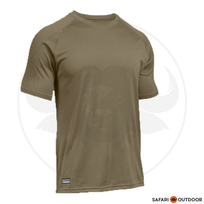 UNDER ARMOUR MEN TACT HEATGEAR SHORT SLEEVE - SAND