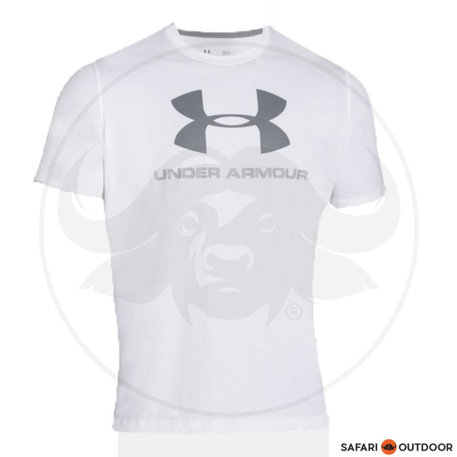 UNDER ARMOUR MEN COTTON CHARGED T-SHIRT - WHITE