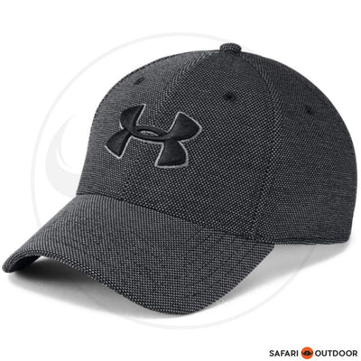 UNDER ARMOUR CAP HEATHERED BLITZING 3.0-BLACK / GRAPHITE
