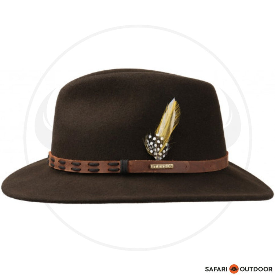 STETSON HAT TRAVELLER VITAFELT -DARK BROWN