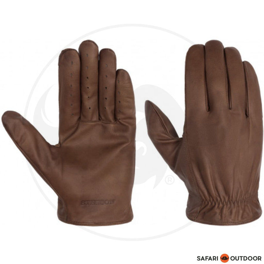 STETSON GLOVES GOAT NAPPA DARK - BROWN