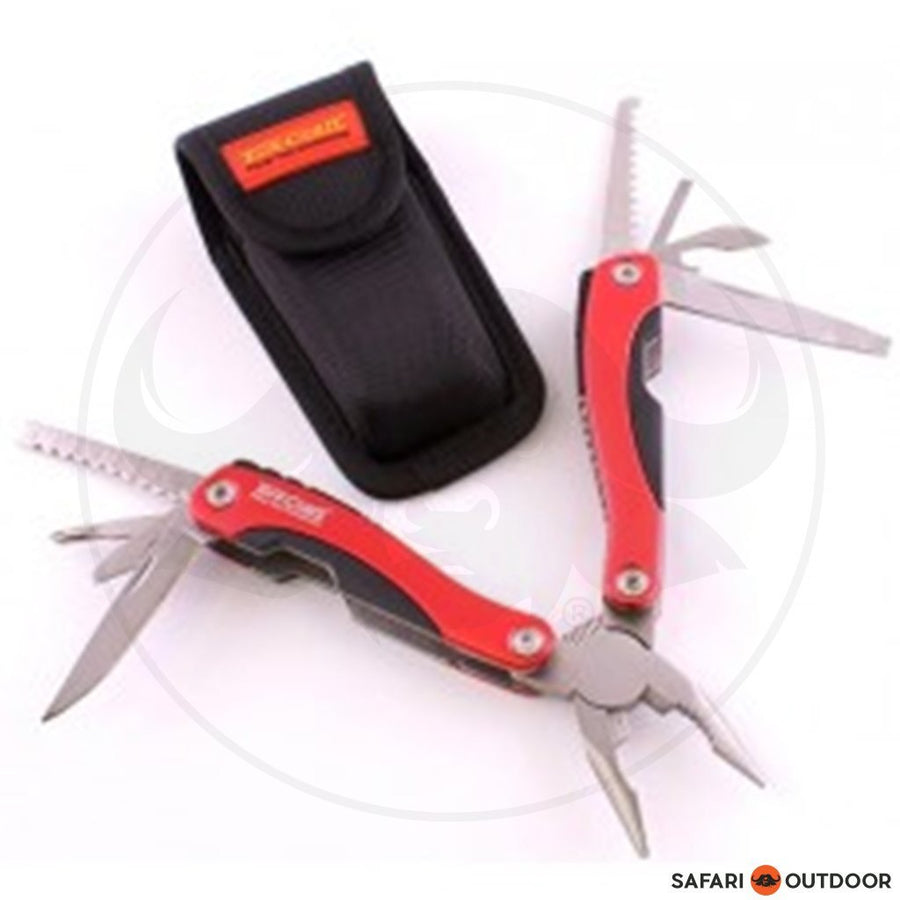 Tork Craft Red Multitool With Nylon Pouch In Blister - SAFARI OUTDOOR