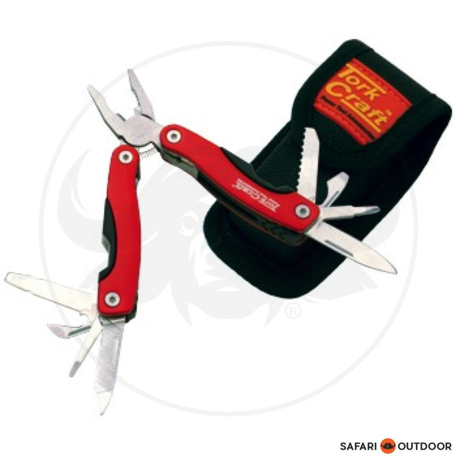 KNIFE TORK CRAFT MINI RED MULTITOOL WITH NYLON POU - SAFARI OUTDOOR