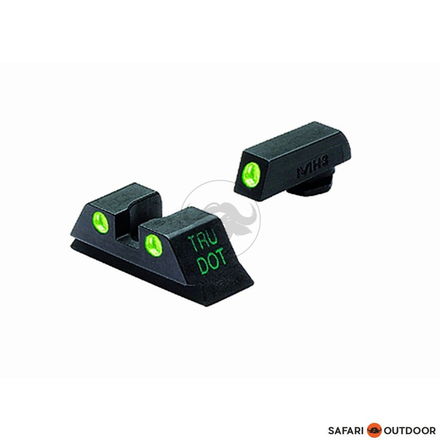 GLOCK GNS NIGHT SIGHT GREEN SET - FRONT & REAR - SAFARI OUTDOOR