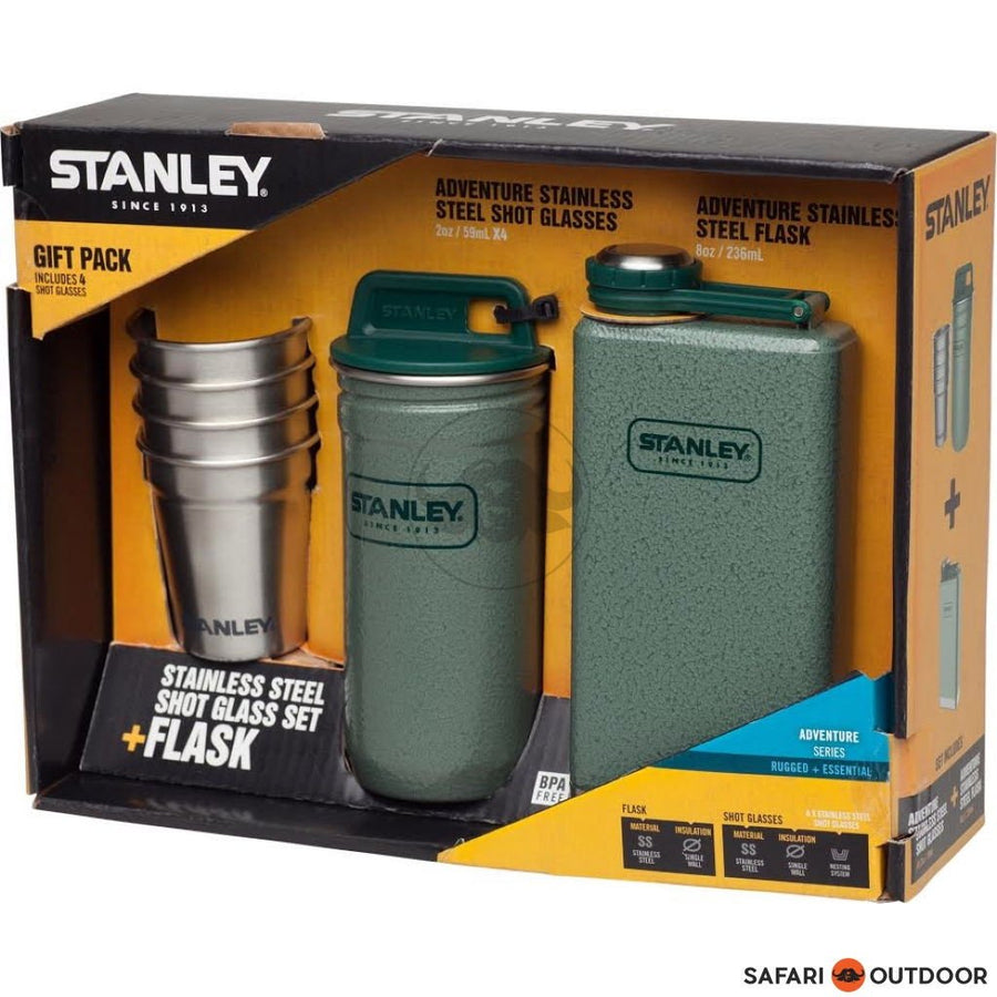 STANLEY FLASK & SHOT SET GIFT PACK - SAFARI OUTDOOR