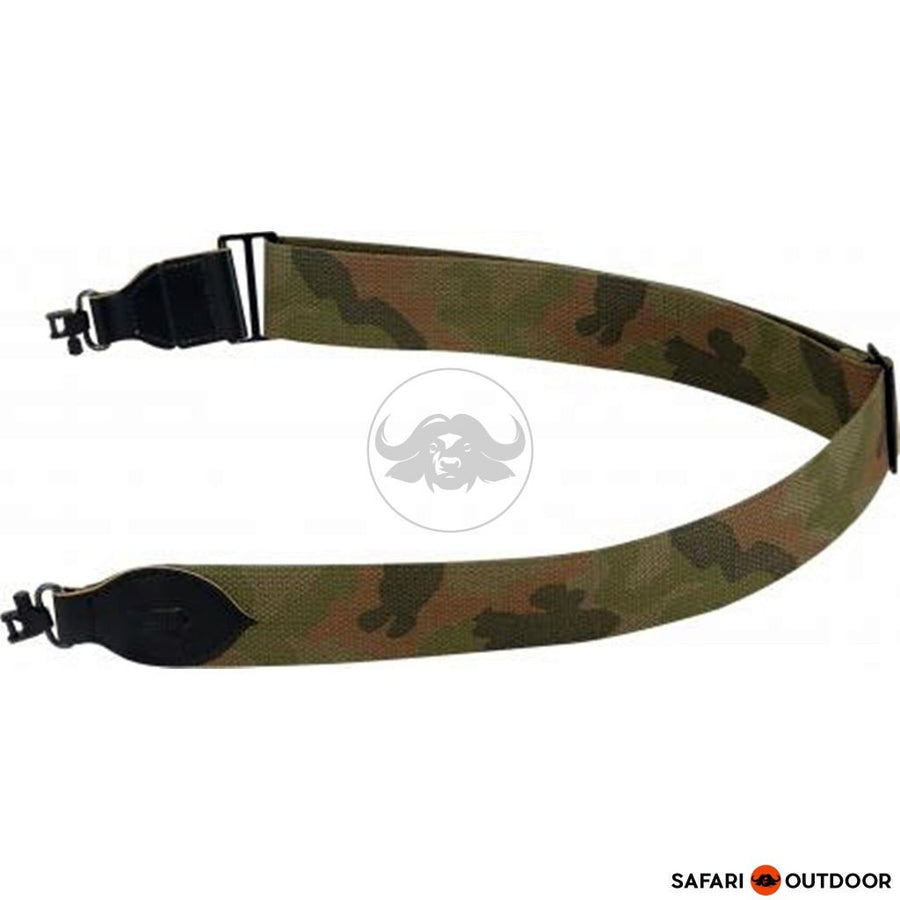 LEVY 2' COTTON GUN SLING WITH LOCK SWIVEL - CAMO - SAFARI OUTDOOR