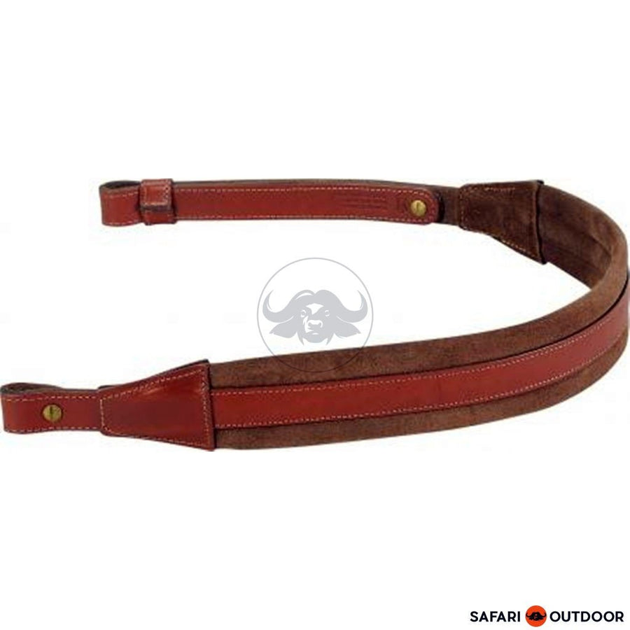 LEVY RIFLE SLING PADDED LEATHER WITH BROWN SUEDE - SAFARI OUTDOOR