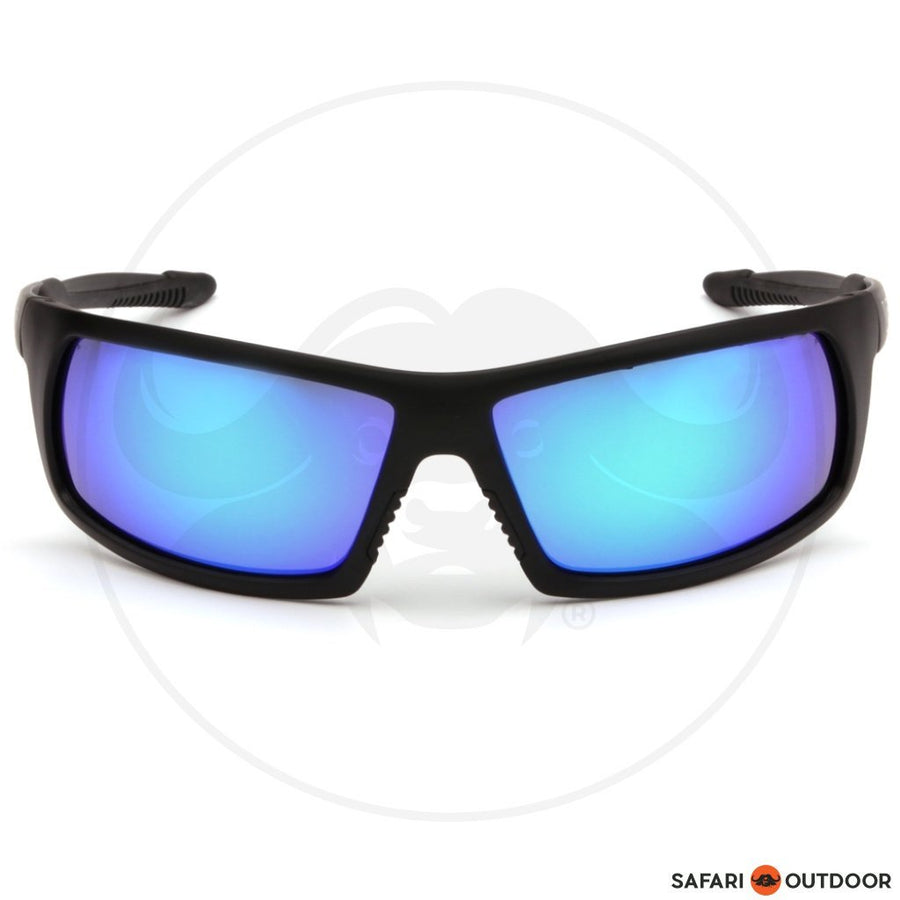 Glasses Pyramex Stonewall Tactical Black Frame/blue Lens - SAFARI OUTDOOR