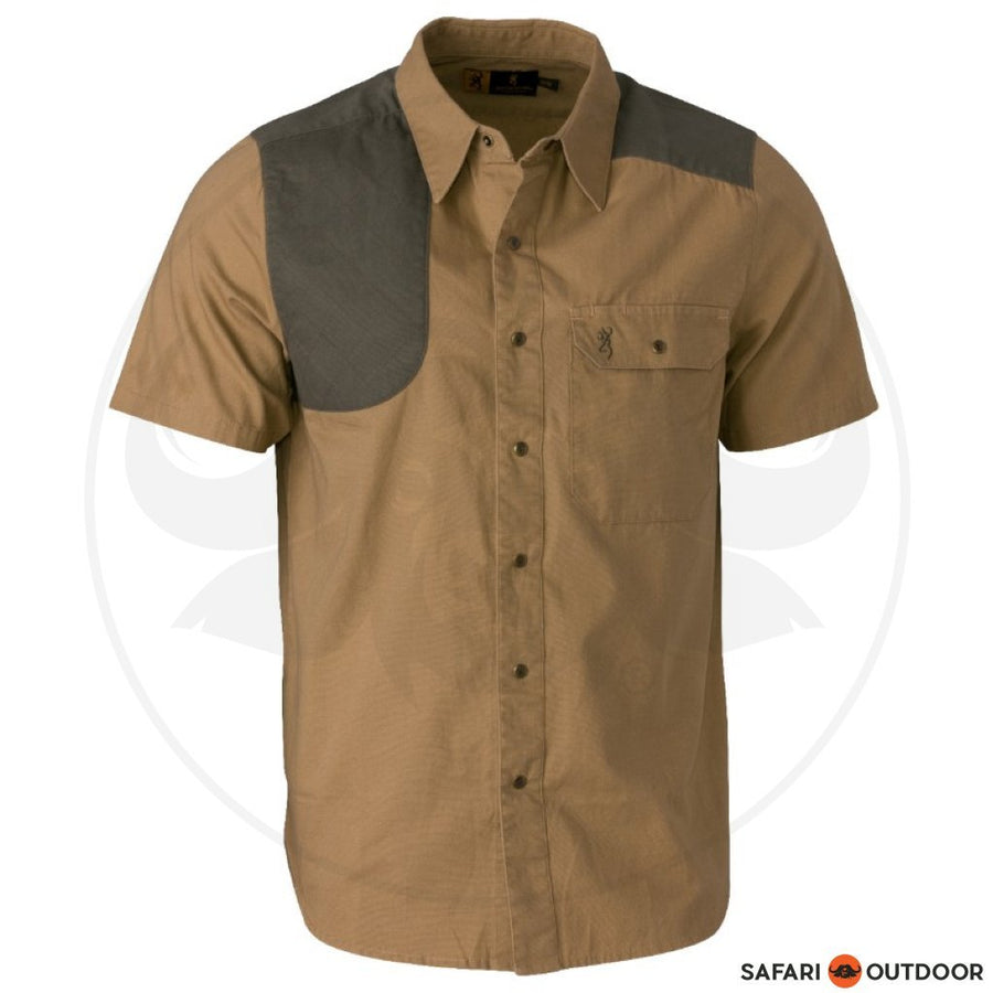 BROWNING MEN AUSTIN SHORT SLEEVE SHIRT - LODEN/TAUPE