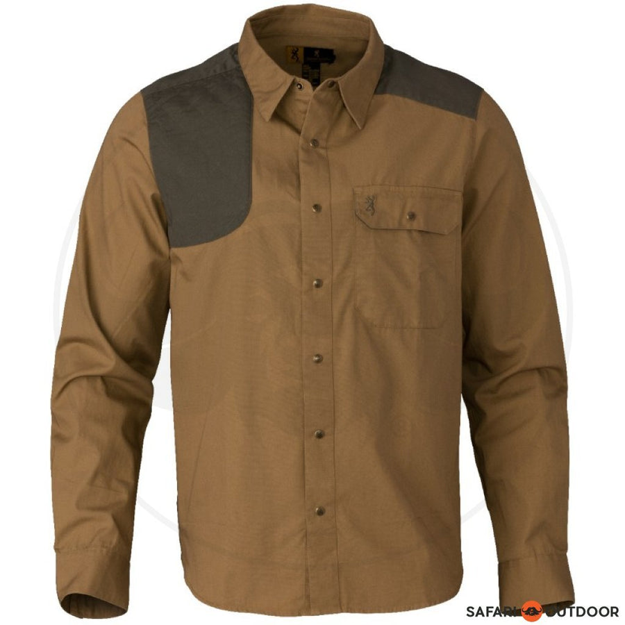 BROWNING MEN LONG SLEEVE SHIRT AUSTIN - TAUPE/LODEN