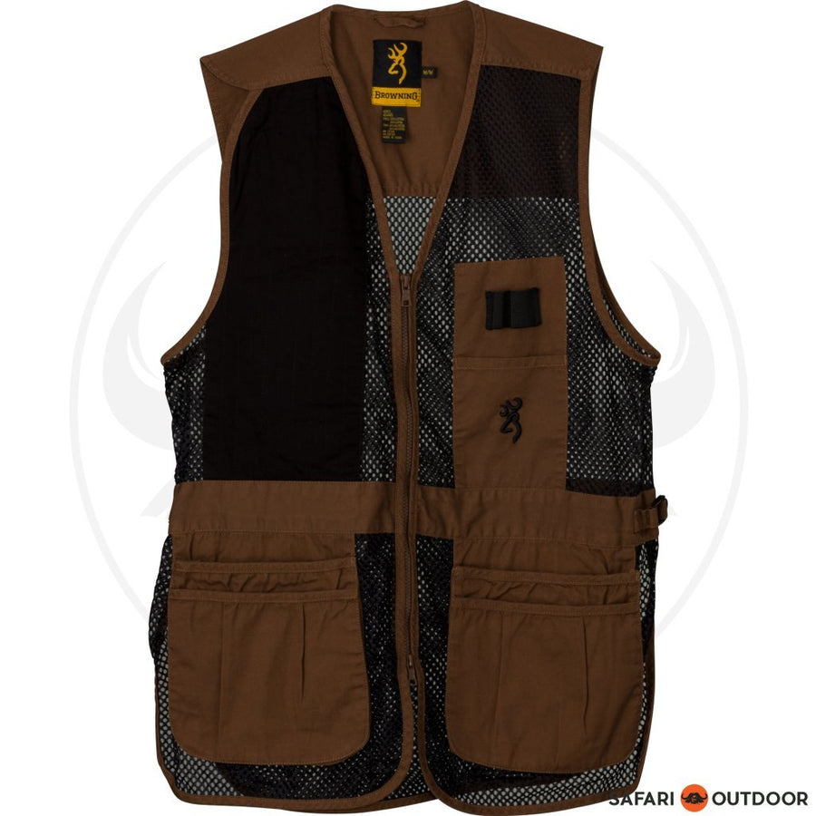 BROWNING MEN TRAP SHOOTVEST - CLAY/BLACK