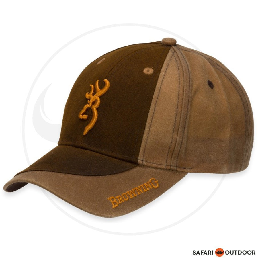 BROWNING CAP MEN TWO TONE WAX -DARK BROWN