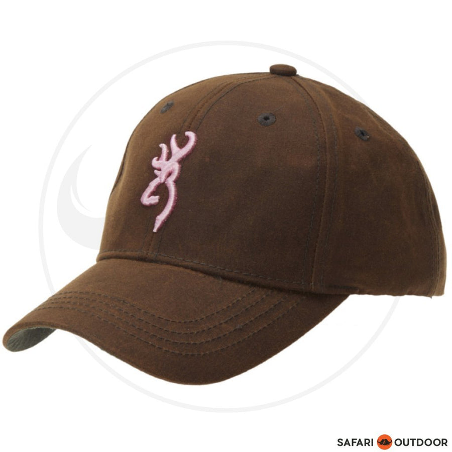 BROWNING CAP LADIES DURA WAX -PINK/BROWN