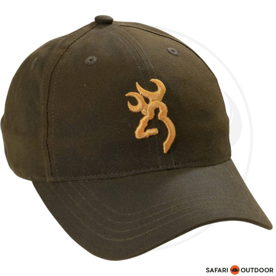 BROWNING CAP MEN DURA WAX 3D BUCKMARK BROWN